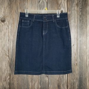 Old Navy Blue Jean Straight Pencil Skirt